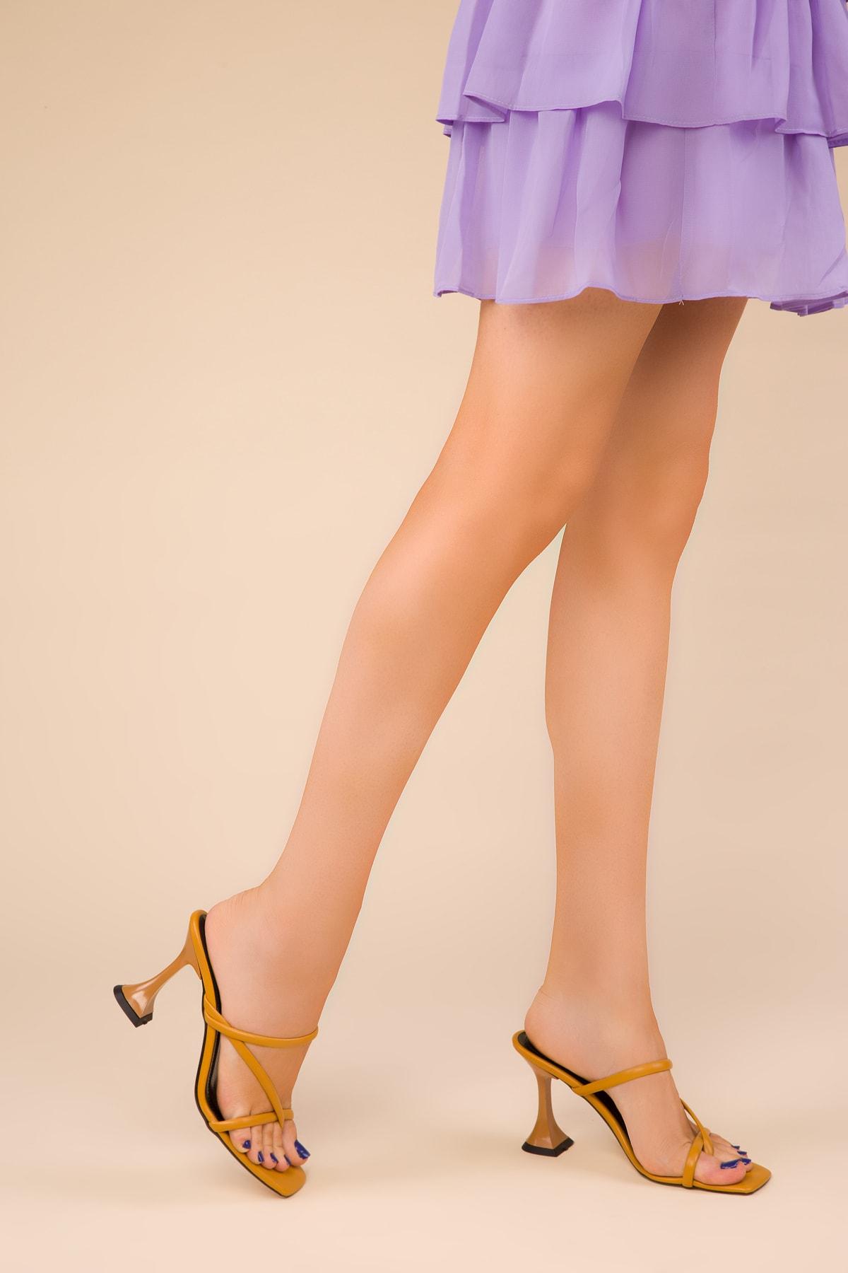 SOHO Hardal Sarı Kadın Terlik