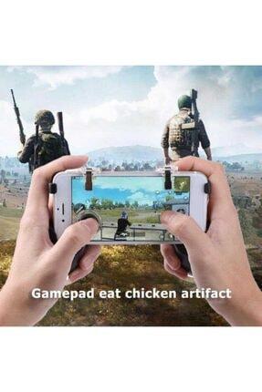 Fibaks Realme 5i Için Pubg Mobil Oyun Konsolu Aparatı Ateş Tetik Gamepad Joystick 5 In 1 Katlanabilir 1