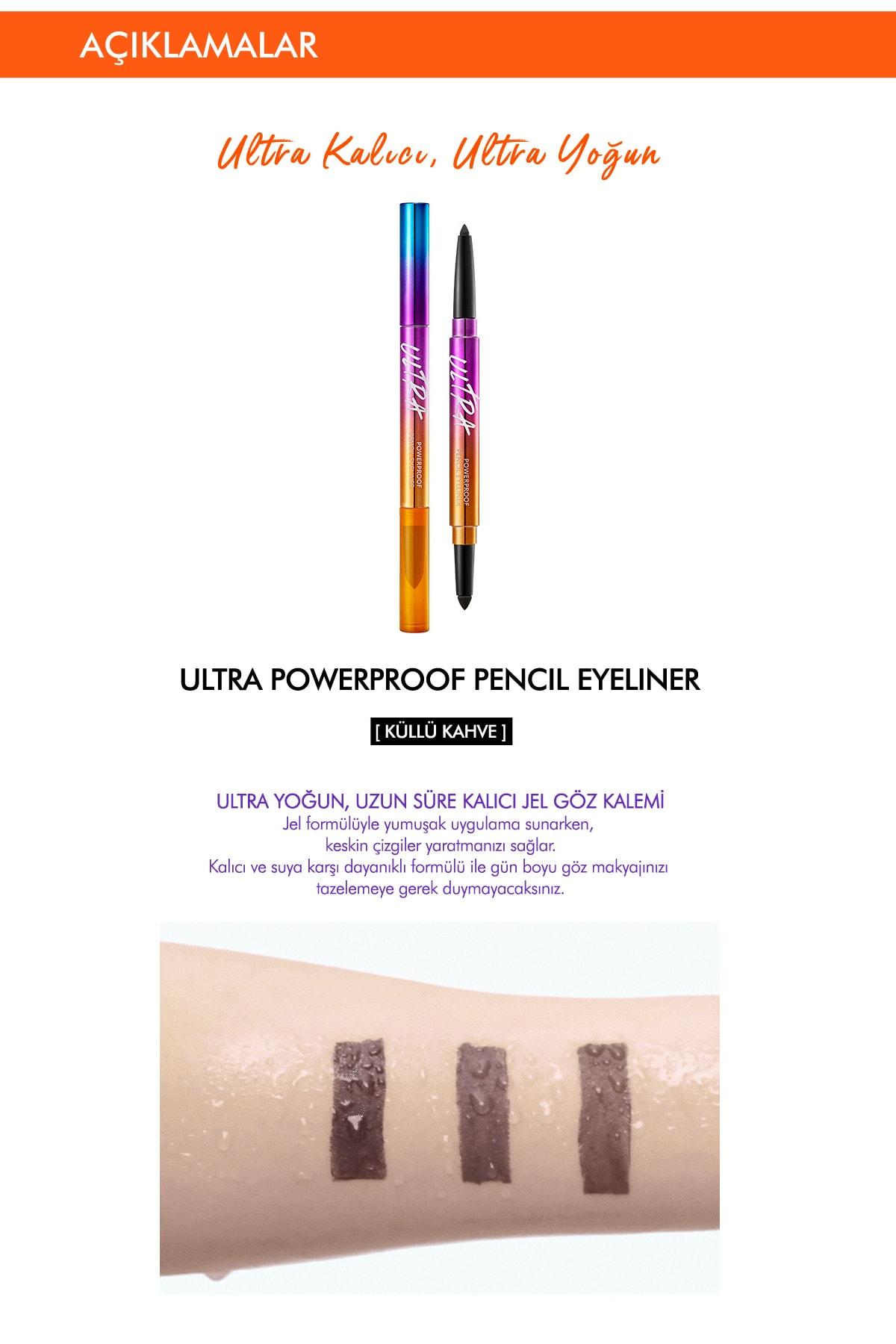 Missha Suya Dayanıklı Kalıcı Jel Göz Kalemi Ultra Powerproof Pencil Eyeliner Ash Brown 1