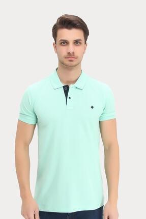 Dynamo Erkek Su Yeşili Polo Yaka Likralı T-shirt T621 1