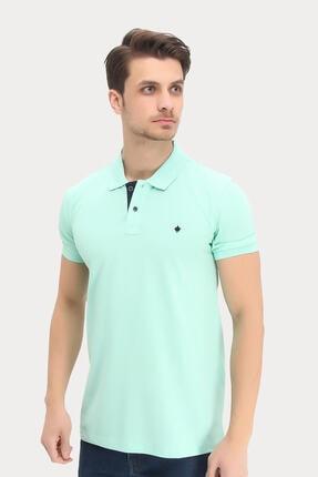 Dynamo Erkek Su Yeşili Polo Yaka Likralı T-shirt T621 2