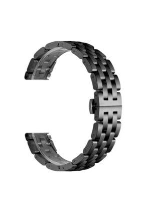 CaseStreet Samsung Galaxy Watch 42mm 20mm Kordon Metal Örgü Görünüm Krd 20 Siyah 0
