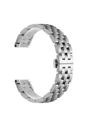 CaseStreet Samsung Galaxy Watch 42mm 20mm Kordon Metal Örgü Görünüm Krd 20 Gümüş 0