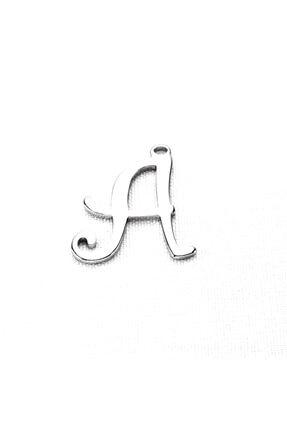 aXcesi A Harfi Çelik Harf Kolye - Ayarlı Kordonlu 1