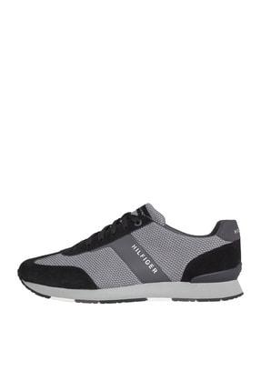 Tommy Hilfiger Erkek Knitted Material Mix Runner Sneaker 0