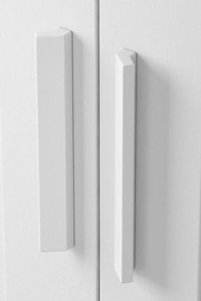 DEKOREX Mnt-216-Beyaz -İki Kapaklı İki Çekmeceli Gardırop 3