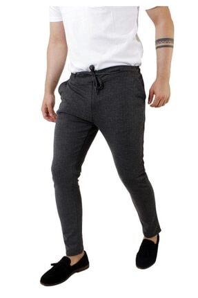 Stil Kombin Erkek Koyu Füme Captiva Çizgili Bilek Boy Pantolon 1