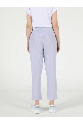 Colin's Regular Fit Yüksek Bel Düz Paça Kadın Mavi Pantolon 1