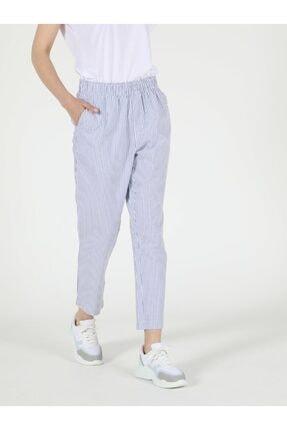 Colin's Regular Fit Yüksek Bel Düz Paça Kadın Mavi Pantolon 2