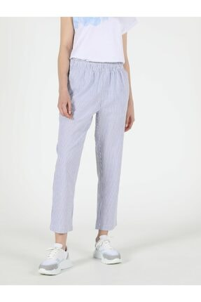 Colin's Regular Fit Yüksek Bel Düz Paça Kadın Mavi Pantolon 3