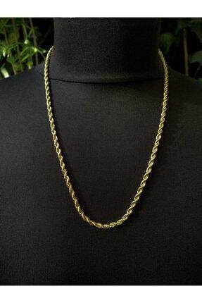 TAKIKRALI Unisex Gold Burgu Kararmaz Çelik Zincir 0