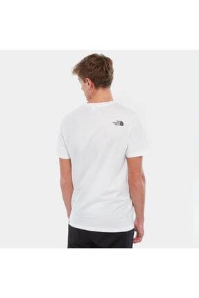 The North Face Erkek Beyaz Sıfır Yaka Tişört 2