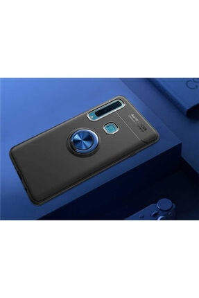 BCA Samsung Galaxy A9 2018 Ravel Silikon Kılıf Yüzüklü Standlı Kapak Zore 0