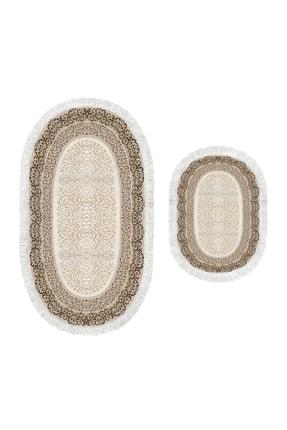 Alanur Home Dekoreko Dijital Saçaklı Oval Klozet Takımı 1818 Desen 1 1