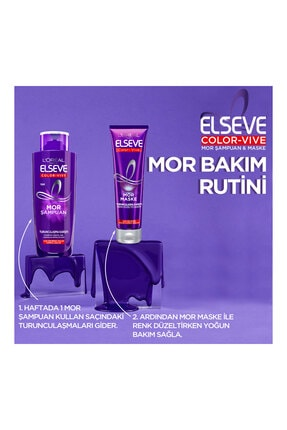 Elseve Color-vive Purple Maske Silver Mor Maske 150 ml. 4