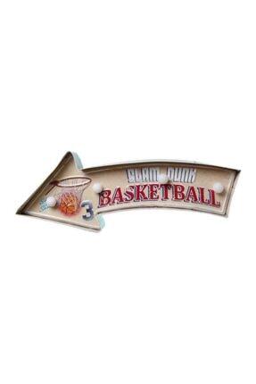 EVİMTATLIEVİM Basketball Led Işıklı Metal Tabela 41 Cm 1