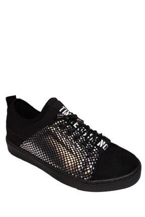 beyzasaylık Kadın Gümüş Detaylı Siyah Casual Ayakkabı 0