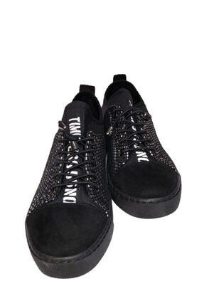 beyzasaylık Kadın Gümüş Detaylı Siyah Casual Ayakkabı 2