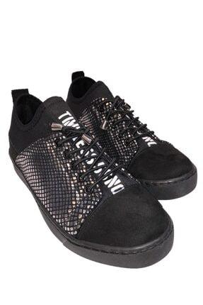 beyzasaylık Kadın Gümüş Detaylı Siyah Casual Ayakkabı 3