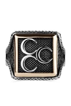 Anı Yüzük Üç Hilalli Kare Tasarım Erkek Gümüş Yüzüğü 1
