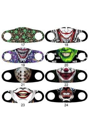 Angelino Moda Maske Joker Baskı No 22 Yıkanabilir Yetişkin Yüz Maskesi 3