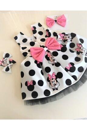 EMBE P Fiyonklu Minie Mouse Elbise Saç Bandı Yada 2 Toka Seçeneğiyle 0
