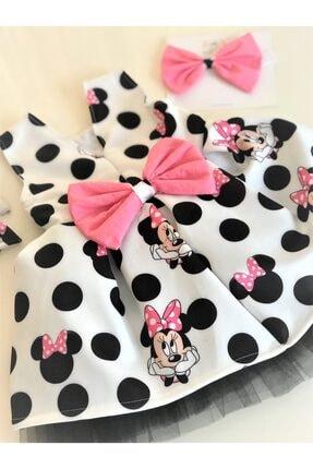 EMBE P Fiyonklu Minie Mouse Elbise Saç Bandı Yada 2 Toka Seçeneğiyle 1