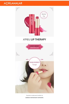 Missha A'PIEU Lip Therapy (Linen Berry) 1