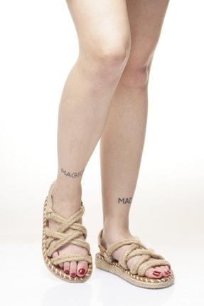 Delos Düz Hasır Sandalet 0