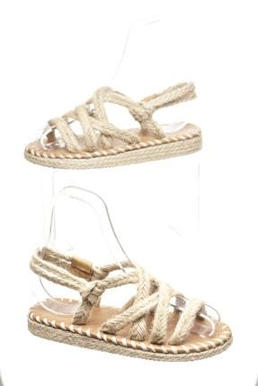 Delos Düz Hasır Sandalet 2