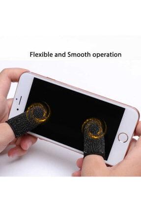 MobileGaraj 1 Çift Pubg Ve Diğer Oyunlar Için Hızlı Tetik Oyun Uzy Parmak Eldiveni Siyah 0
