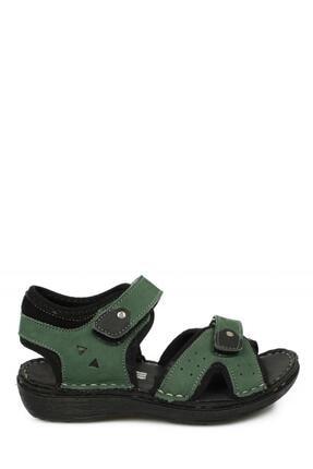 Toddler 7029 Çift Cırt Yeşil Çocuk Sandalet 1