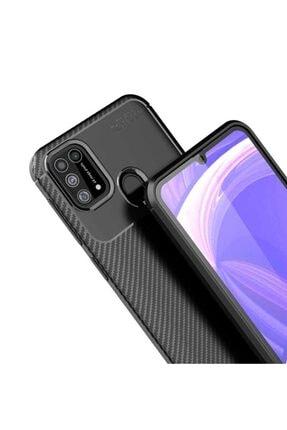 Eiroo Rugged Carbon Samsung Galaxy M31 Siyah Silikon Kılıf 3