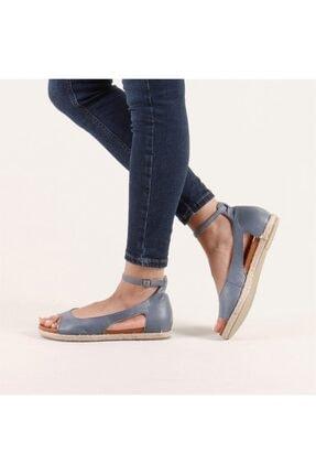 Hammer Jack Kadın Mavi Hakiki Deri Milano Deri Sandalet 236 4032-Z-10049 1