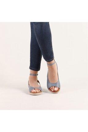 Hammer Jack Kadın Mavi Hakiki Deri Milano Deri Sandalet 236 4032-Z-10049 2