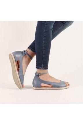Hammer Jack Kadın Mavi Hakiki Deri Milano Deri Sandalet 236 4032-Z-10049 3