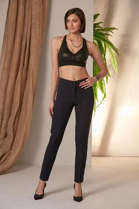Rmg Kadın Lacivert Lacivert Kumaş Pantolon 1538 0