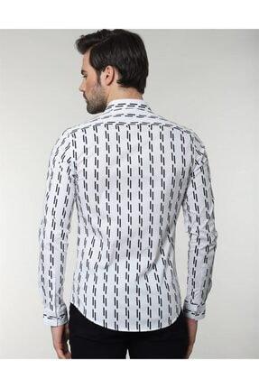 Tudors Erkek Slim Fit Desenli  Gömlek 2