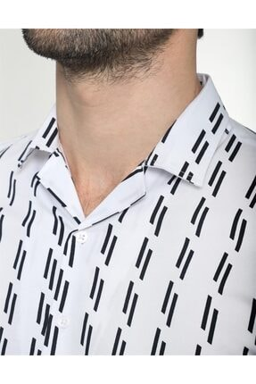 Tudors Erkek Slim Fit Desenli  Gömlek 3