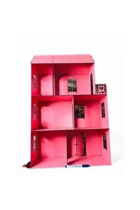 AlibabaPuzzle 3d Ahşap Puzzle Mobilyalı Dev Pembe Barbi Çocuk Evi 2