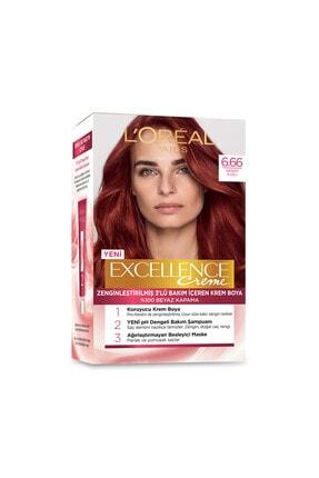 L'Oreal Paris Saç Boyası - Excellence Creme 6.66 Şarap Kızılı 8690595370002 1