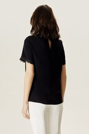 Naramaxx Kadın Siyah Dantelli Bluz 3
