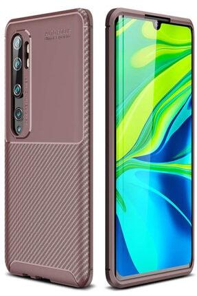 Xiaomi Mi Note 10 Kılıf Sert Korumalı Zırh Karbon Fiber Kapak 0