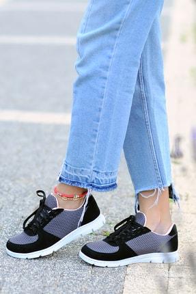 Pembe Potin Kadın Siyah Füme Ayakkabı 0