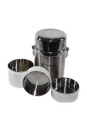 Penguen 1300 Çelik Yemek Termosu 3 Katlı 1.6 Litre Sefer Tası 0