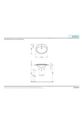Serel Tezgah Üstü Oval Lavabo 1