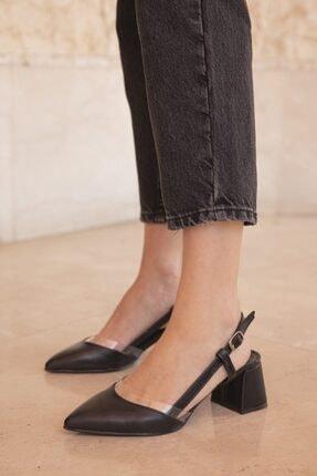 Straswans Kadın Siyah Roy Deri Topuklu Ayakkabı 1