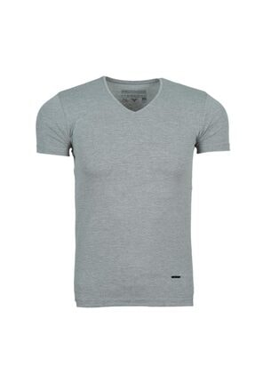 Fabregas Unisex Koyu Gri V Yaka Basic T-shirt 3001 0