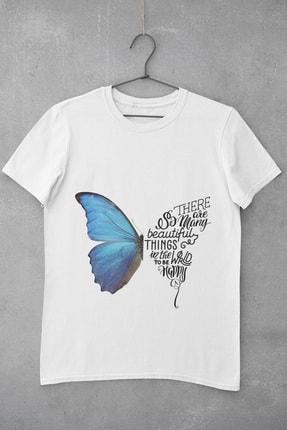 تصویر از Butterfly Baskılı Kadın T-Shirt
