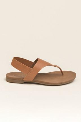 Elle ERTHA Hakiki Deri Taba Kadın Sandalet 2
